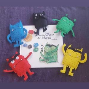 Muñecos caseros del Monstruo de colores
