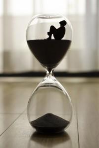 Reloj de arena para contar un minuto con atención plena